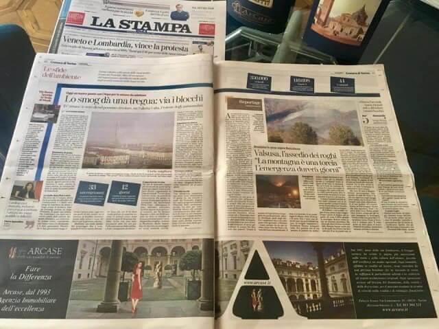 Comunicazione su quotidiano LA STAMPA